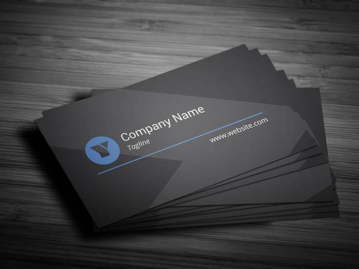 matte black business card front - Matte Black Business Cards