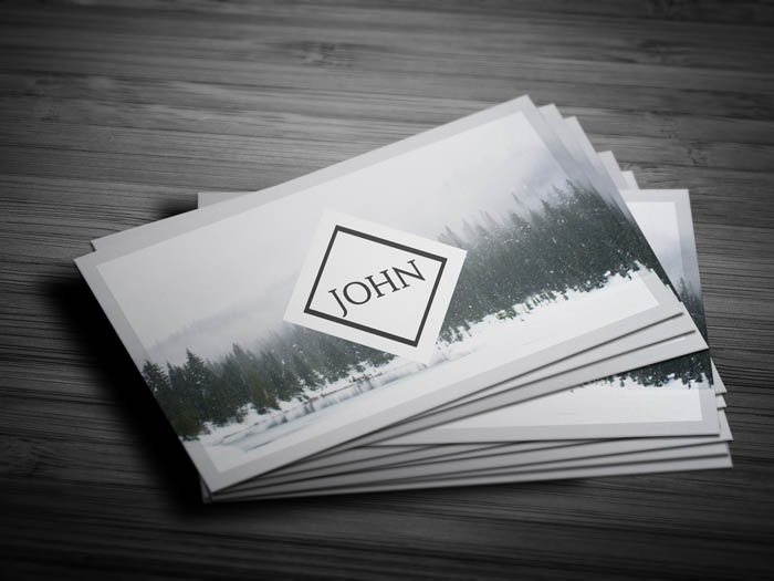 Clear Photography Business Card - Front