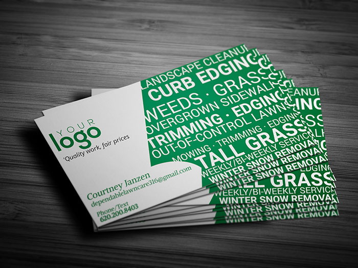 Lawn Care Service Business Card - Front
